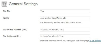 settings for WordPress