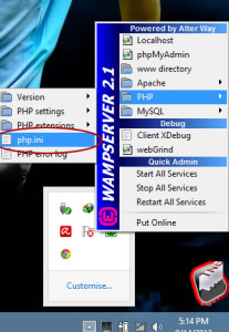 how to increase wamp server upload size