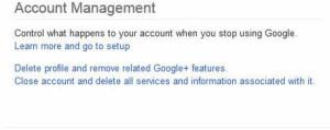 how to deactive google plus account