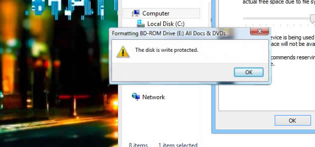 format write protected flash drives