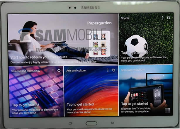 Leaked Images Of Samsung Galaxy Tab S Surface