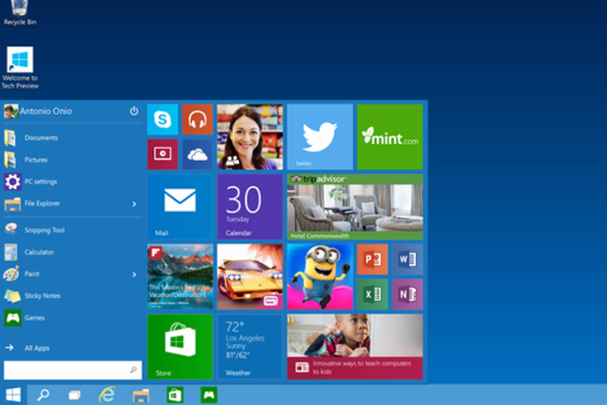 Microsoft's Windows 10 Technical Preview Now Available For Download