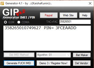 BlackBerry IMEI Genetator