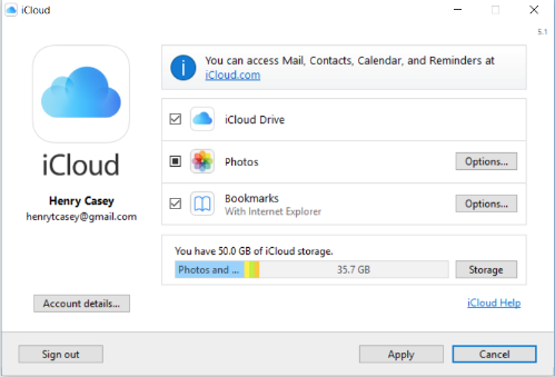 how to select all icloud photos to download